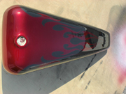 Steel Grey Tribal Burgundy Cruiser paint job