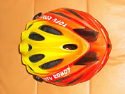 Flamin bicycle helmet with custom paint and airbrush