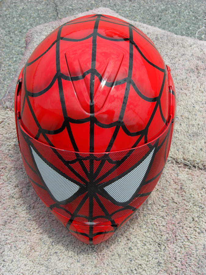 Full Face Visor Graphics Helmet With Spiderman Design