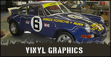 Custom Vinyl graphics and vintage car graphics